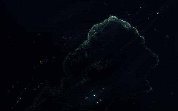 Sciencefiction Nevel Groen Blauw Heelal HD Wallpaper | Achtergrond