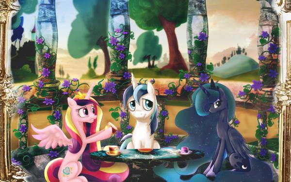 TV Show My Little Pony: Friendship is Magic My Little Pony Princess Luna Princess Cadance Shining Armor HD Wallpaper   Background Image