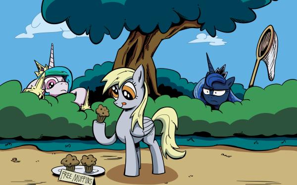 TV Show My Little Pony: Friendship is Magic My Little Pony Derpy Hooves Princess Celestia Princess Luna HD Wallpaper | Background Image