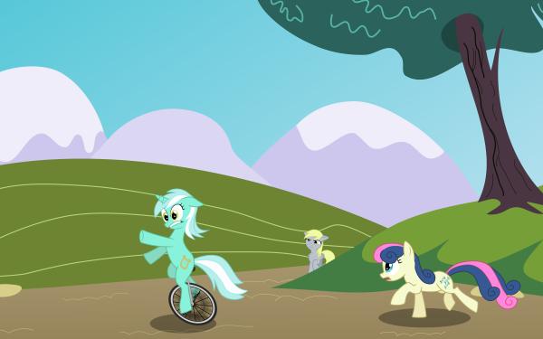 TV Show My Little Pony: Friendship is Magic My Little Pony Derpy Hooves Sweetie Drops Lyra Heartstrings HD Wallpaper | Background Image