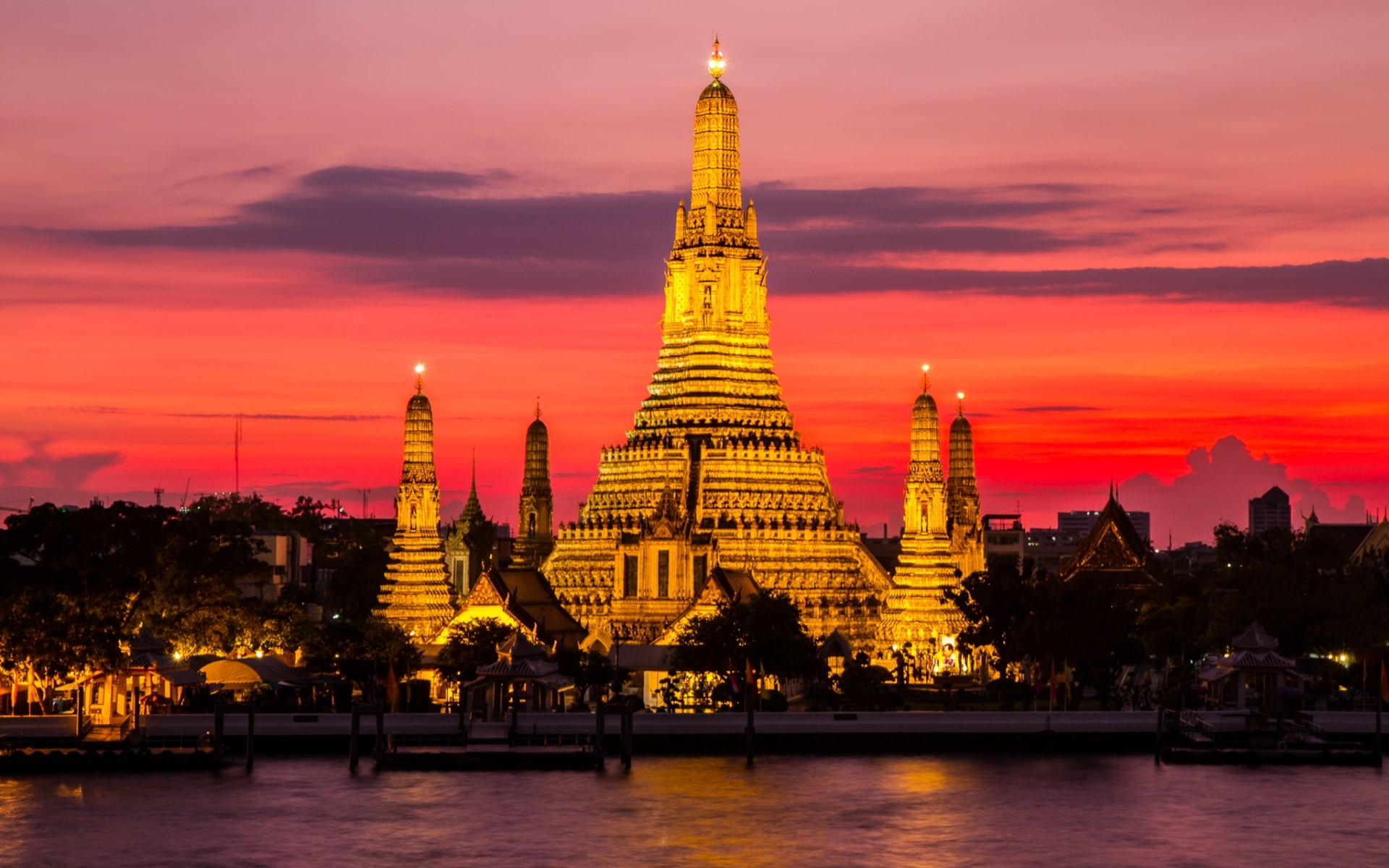 Wat arun temple full hd wallpaper and background image for Thai wallpaper gallery