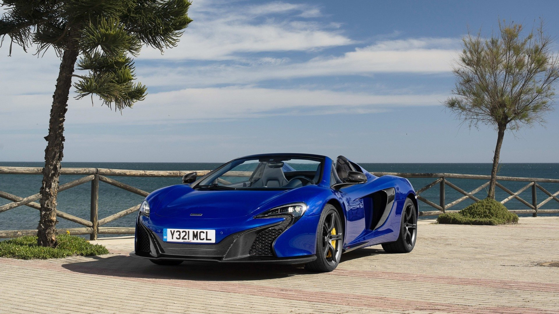 Vehicles - McLaren 650S Spider  Blue Car Supercar Car Vehicle McLaren McLaren 650S Wallpaper