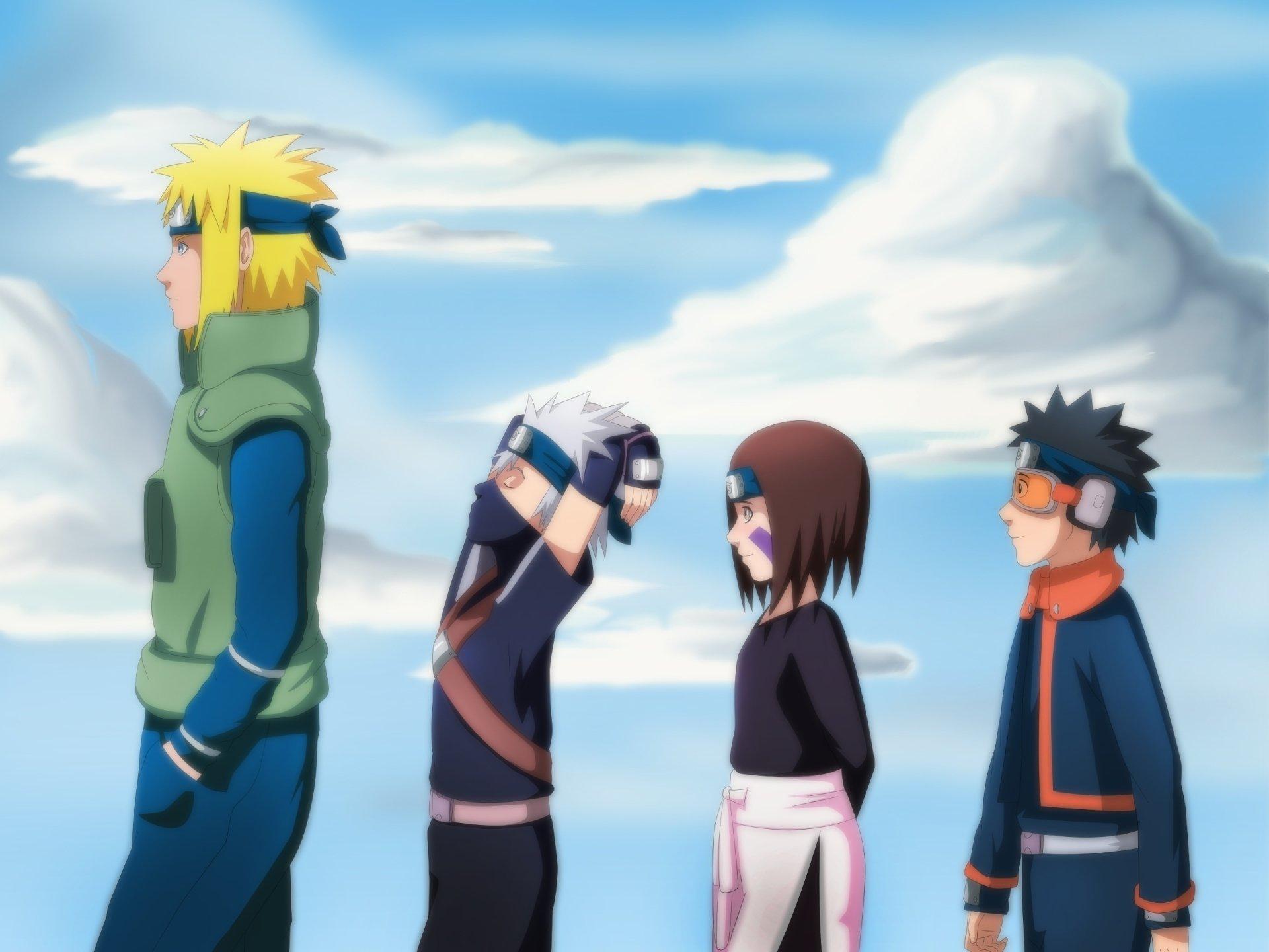 Anime - Naruto  Hokage (Naruto) Kakashi Hatake Obito Uchiha Wallpaper