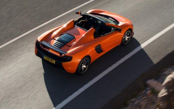 Vehicles McLaren 650S Spider McLaren McLaren 650S Car Supercar Orange Car HD Wallpaper | Background Image