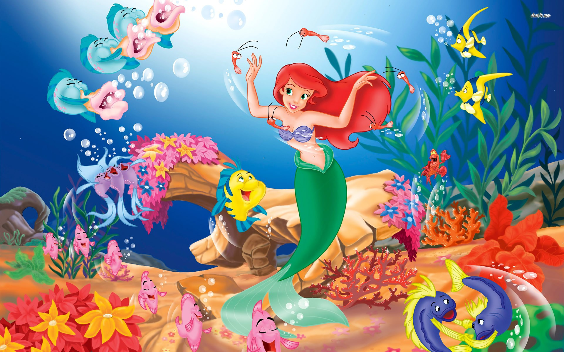 The little mermaid fonds d 39 cran arri res plan - Telecharger la petite sirene ...