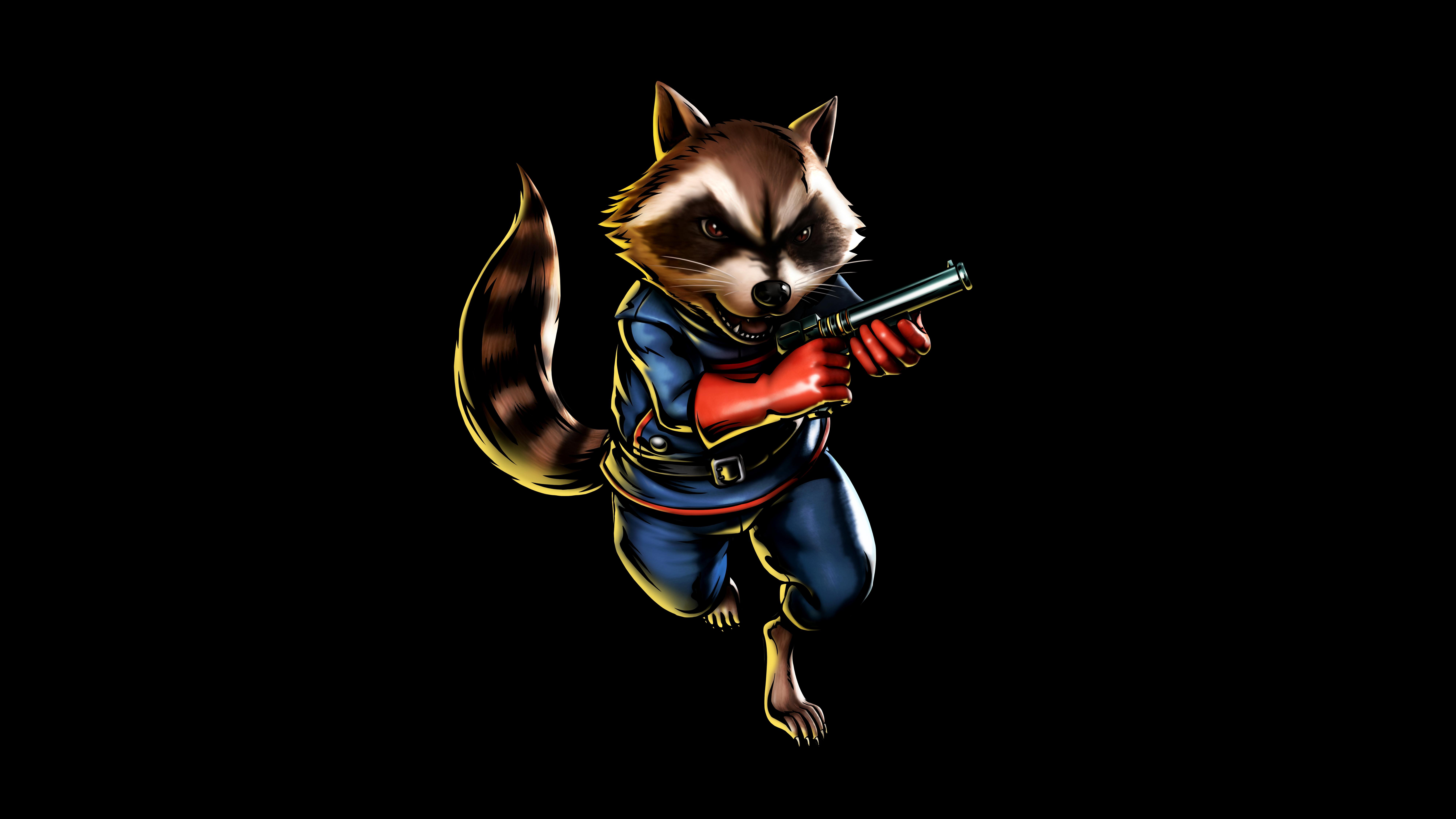 Rocket Raccoon 8k Ultra HD Wallpaper And Background Image