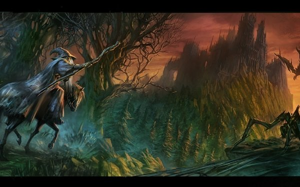 Fantasy Lord of the Rings The Lord of the Rings Gandalf HD Wallpaper | Background Image