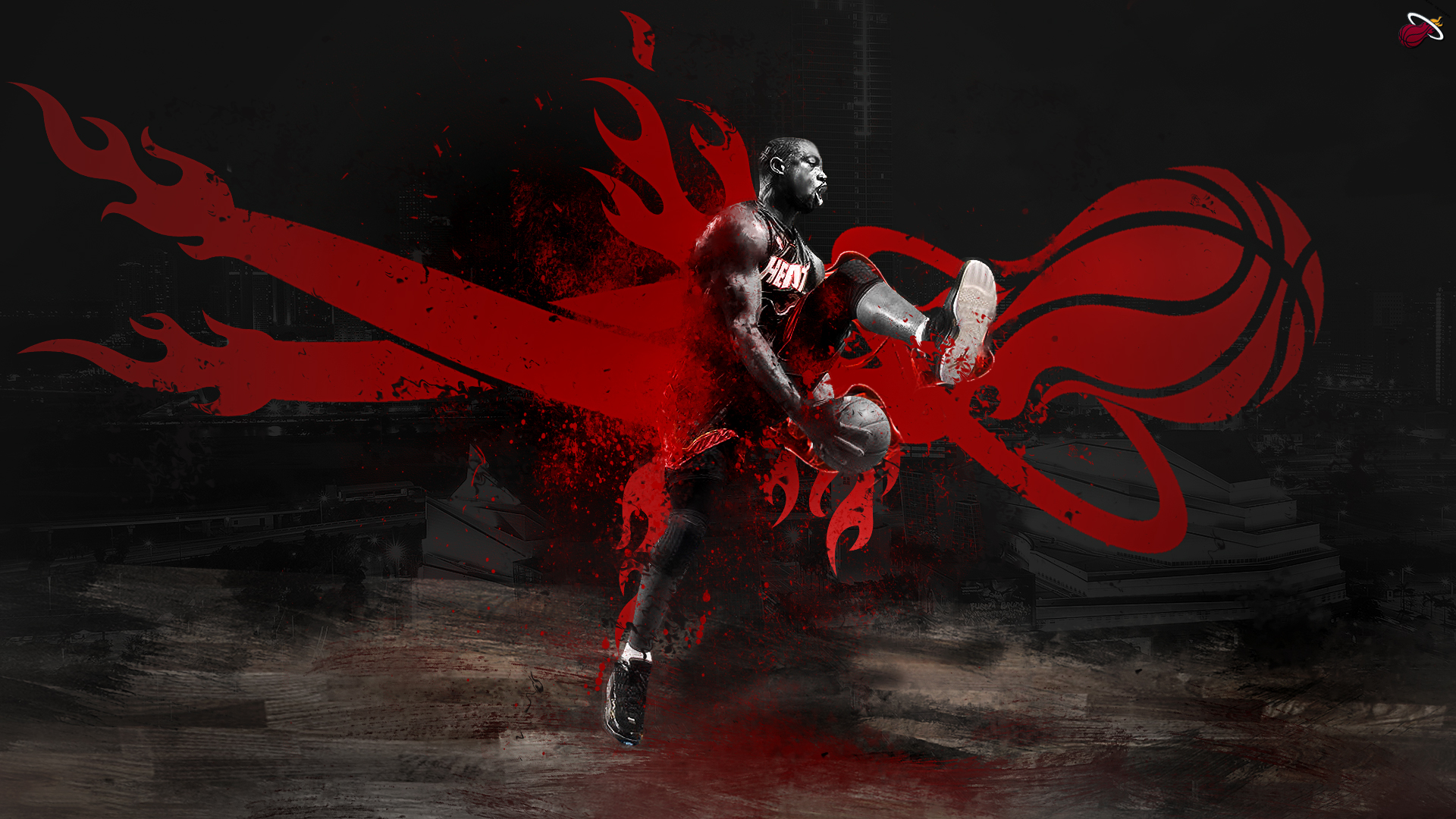 Miami Heat HD Wallpaper | Background Image | 1920x1080 | ID:512050 - Wallpaper Abyss