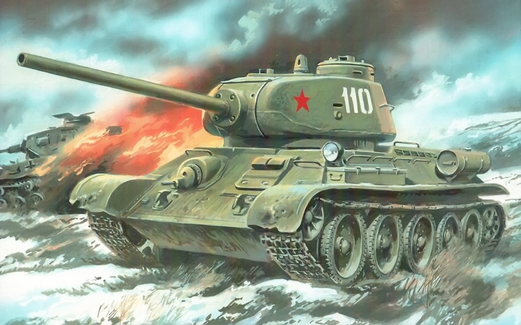 Custom Silk Photo Wallpaper Hd Military Tank Wall: T-34 Wallpaper And Background Image