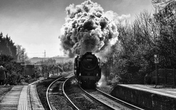 Vehicles Locomotive Steam Train Railroad HD Wallpaper   Background Image