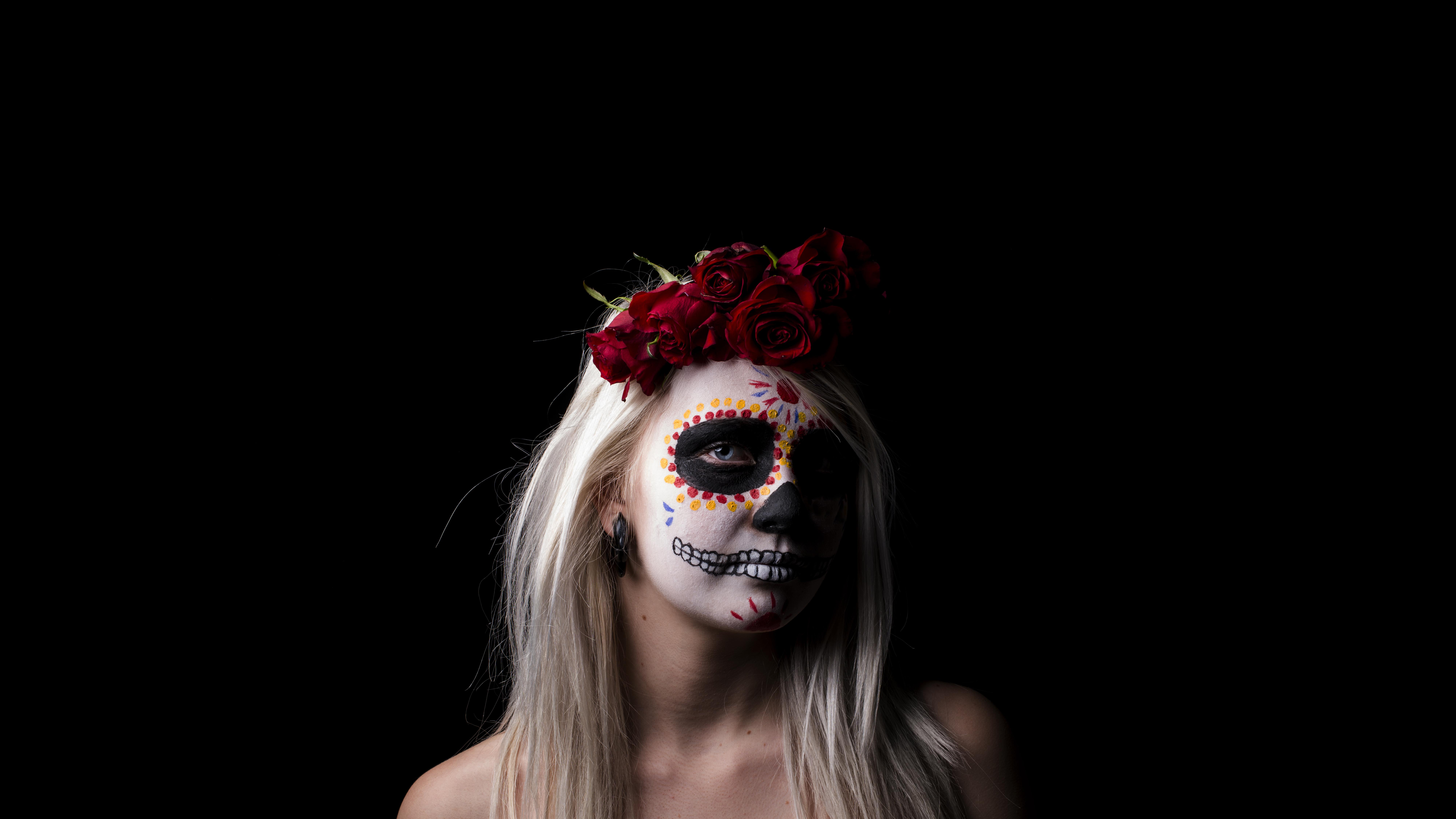 Sugar skull 8k ultra hd wallpaper background image 8000x4500 id 515051 wallpaper abyss - Sugar skull background ...