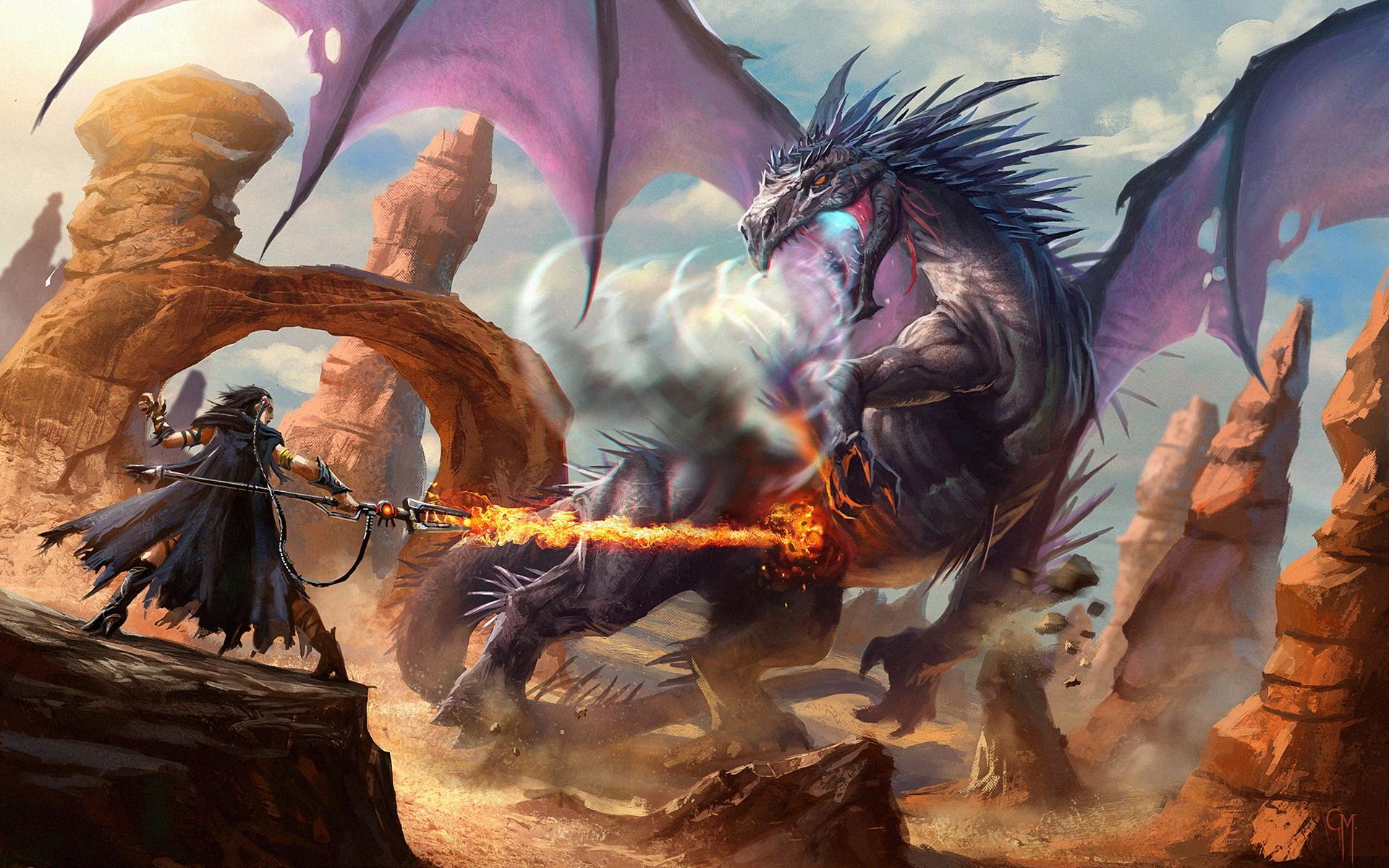 dragons fantasy wallpaper 1920x1200 - photo #36