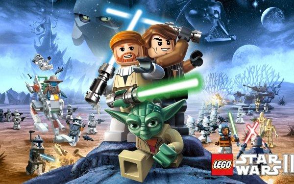Video Game LEGO Star Wars III: The Clone Wars Lego Yoda Anakin Skywalker Obi-Wan Kenobi HD Wallpaper | Background Image