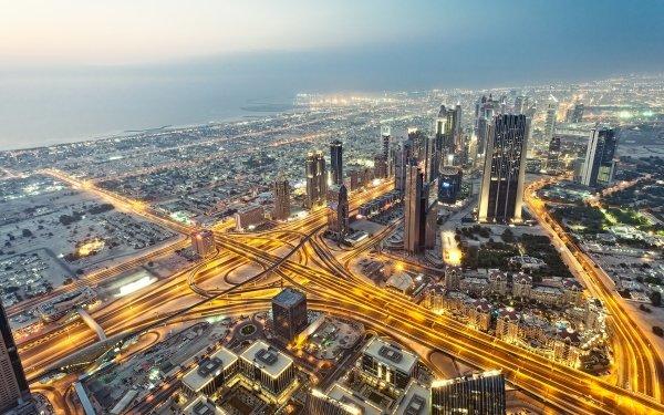 Man Made Dubai Cities United Arab Emirates Sheikh Zayed Avenue HD Wallpaper | Background Image