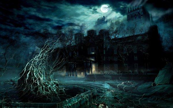 Oscuro Castle Castillos Fantasía Fondo de pantalla HD | Fondo de Escritorio