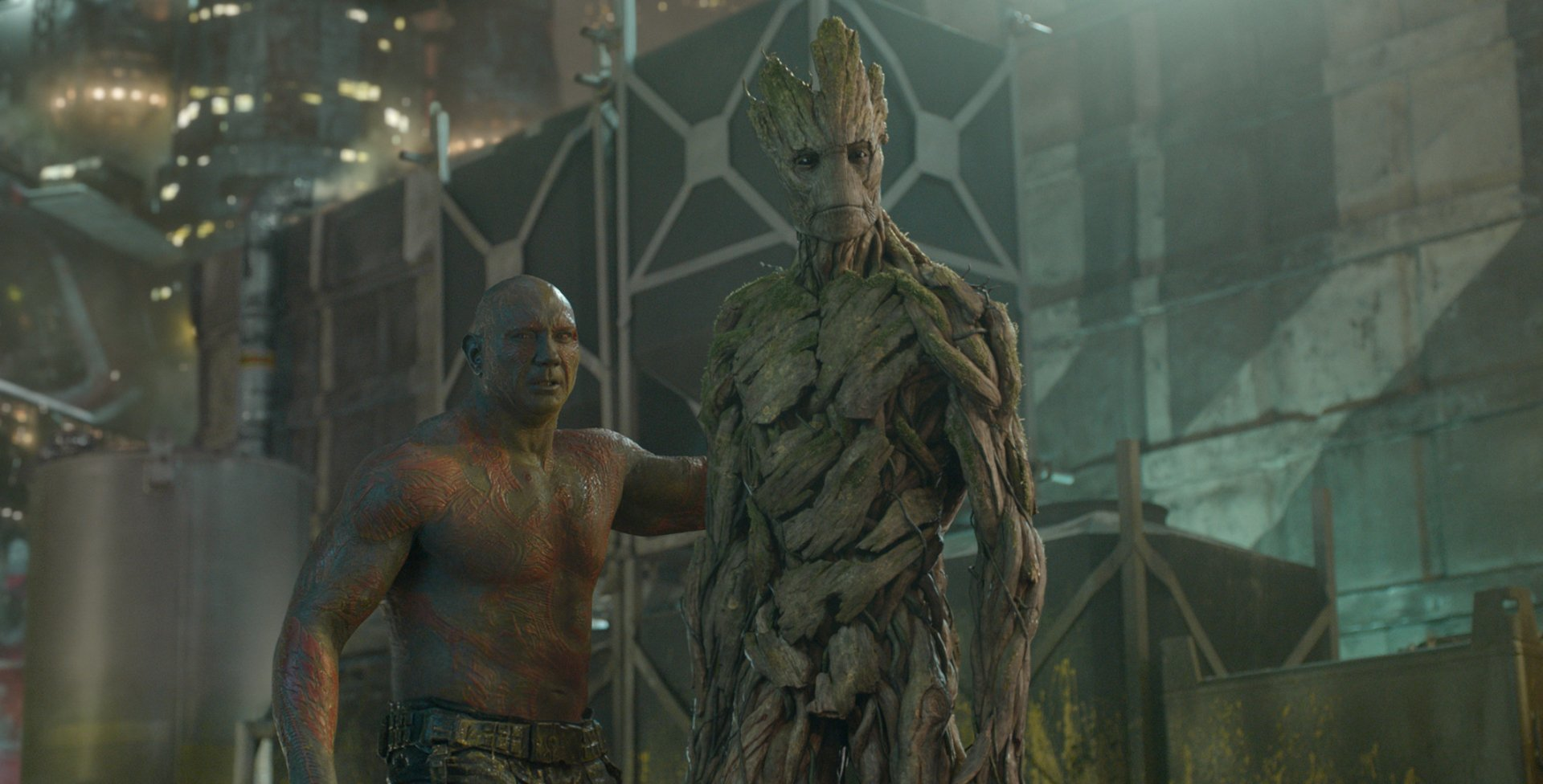 Movie - Guardians of the Galaxy  Drax The Destroyer Dave Bautista Groot Wallpaper