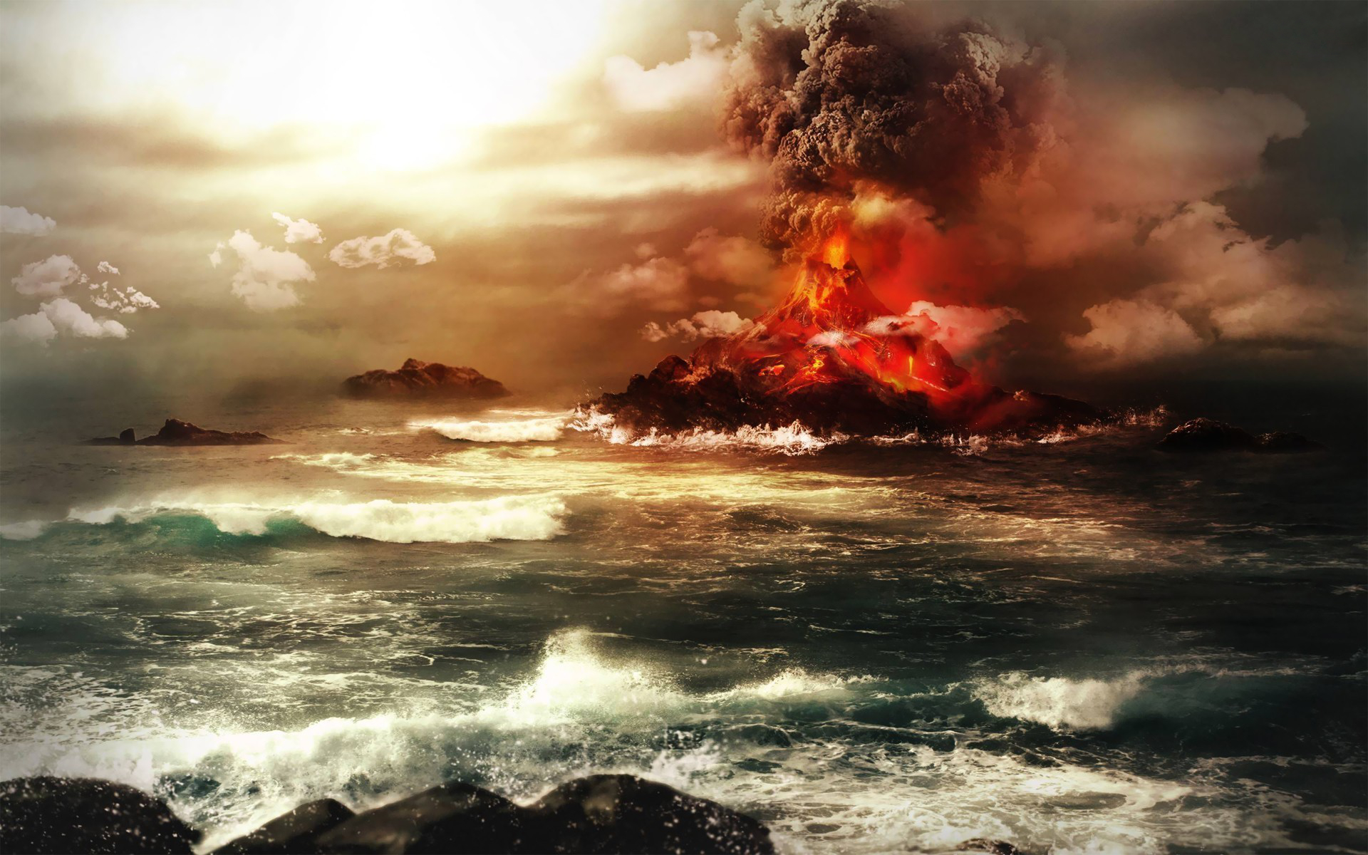 Volcano HD Wallpaper | Background Image | 1920x1200 | ID:529566 - Wallpaper Abyss