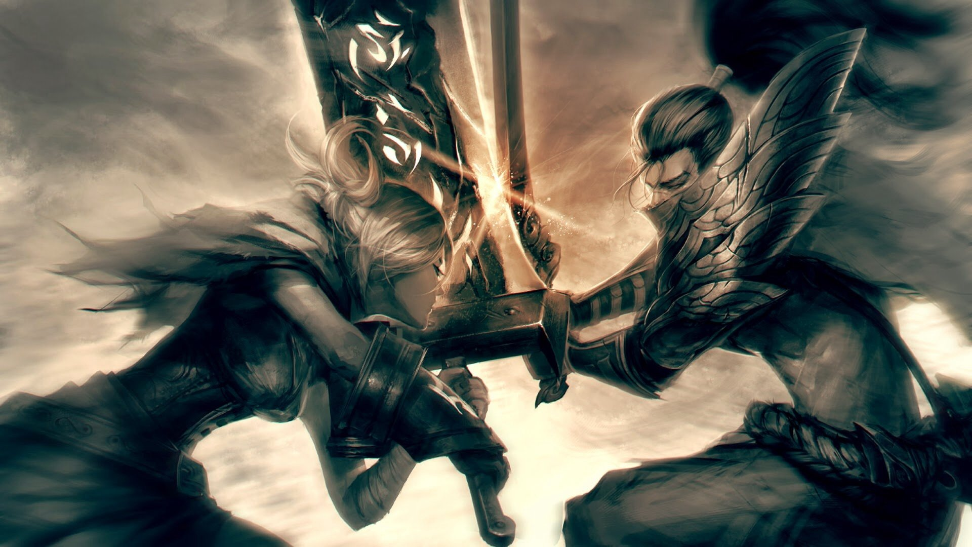 Video Game - League Of Legends  Yasuo (League Of Legends) Riven (League Of Legends) Wallpaper