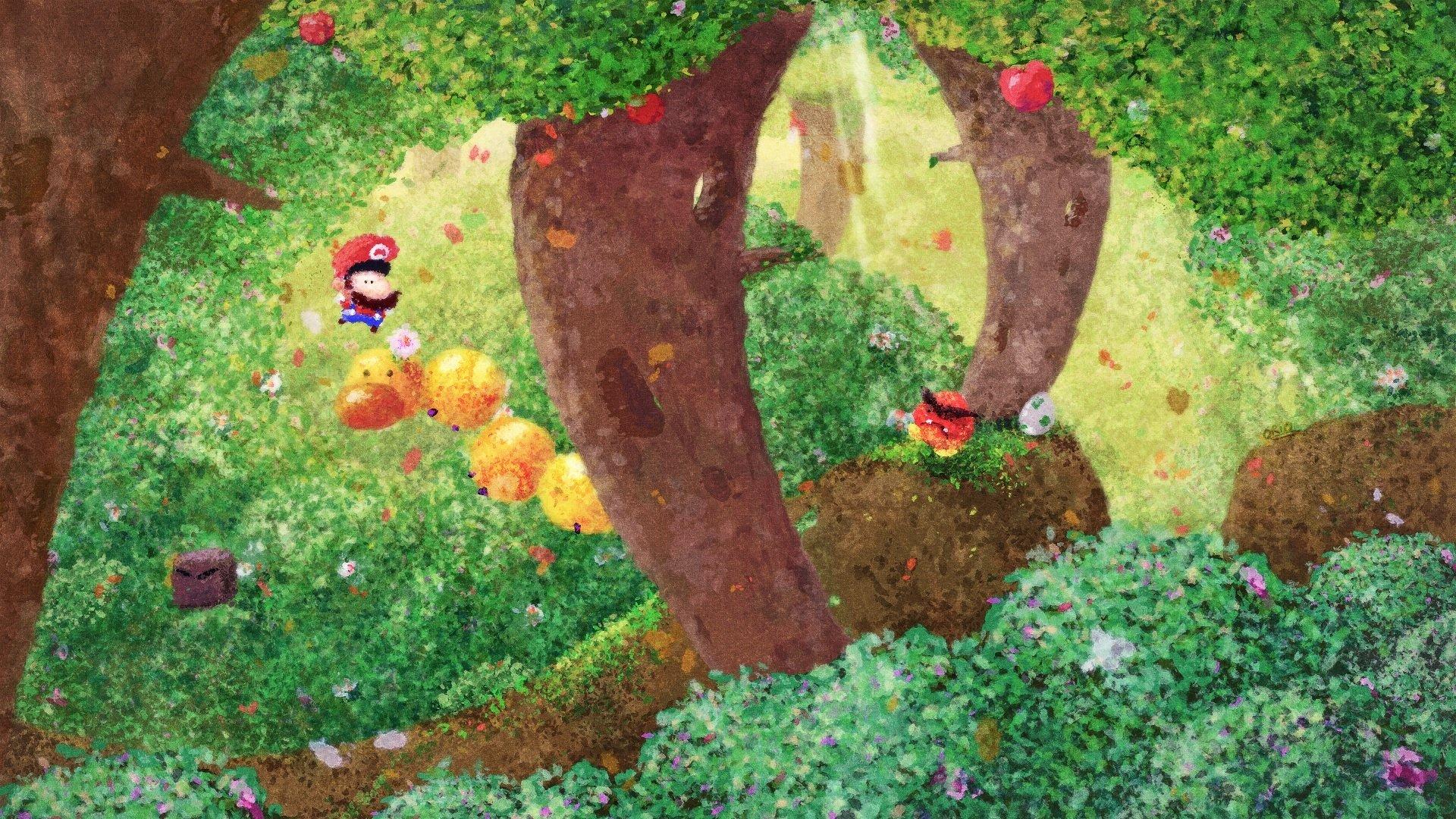 Videojuego - Super Mario World  Super Mario Goomba Bosque Fondo de Pantalla