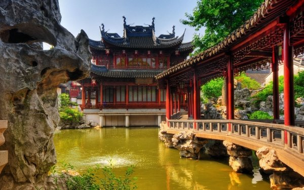Man Made Yuyuan Garden Yu Yuan Shanghai China HD Wallpaper | Background Image