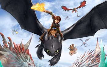 Hiccup How To Train Your Dragon 2 Toothless HD Wallpaper