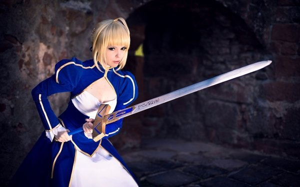 Women Cosplay Saber Fate/Stay Night HD Wallpaper | Background Image