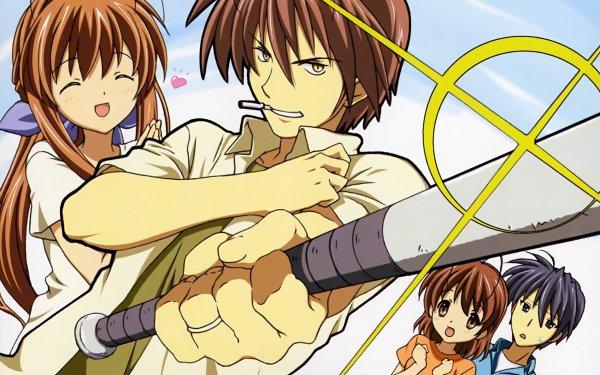 Anime Clannad Sanae Furukawa Akio Furukawa Nagisa Furukawa Tomoya Okazaki HD Wallpaper | Background Image