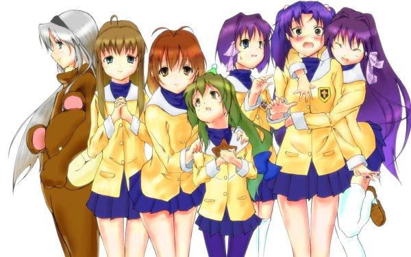 Anime Clannad Nagisa Furukawa Fuuko Ibuki Tomoyo Sakagami Kyou Fujibayashi Ryou Fujibayashi Kotomi Ichinose Yukine Miyazawa HD Wallpaper | Background Image