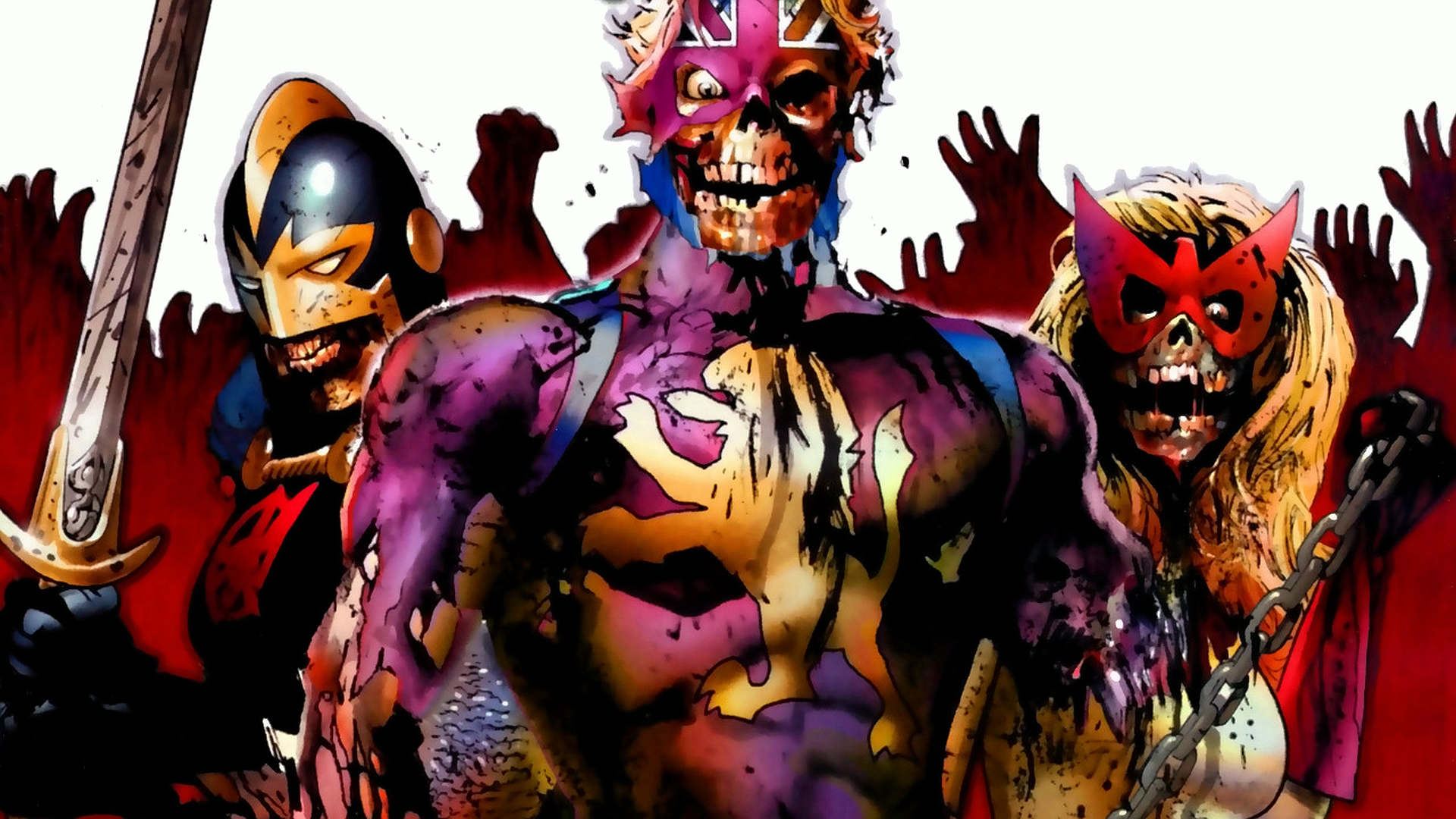 Zombies Wallpaper 1920x1080 Marvel Zombies ...