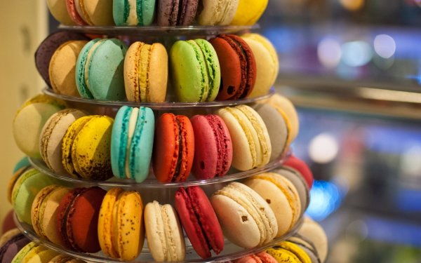 Food Macaron Biscuit Cookie Colorful HD Wallpaper | Background Image