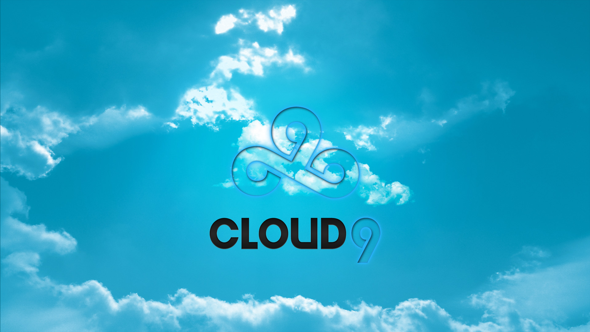 simple blue logo for cloud 9 team league of legends full