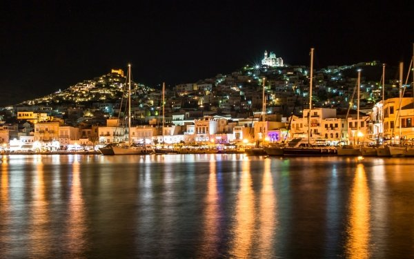 Man Made Ermoupoli Towns Greece HD Wallpaper | Background Image