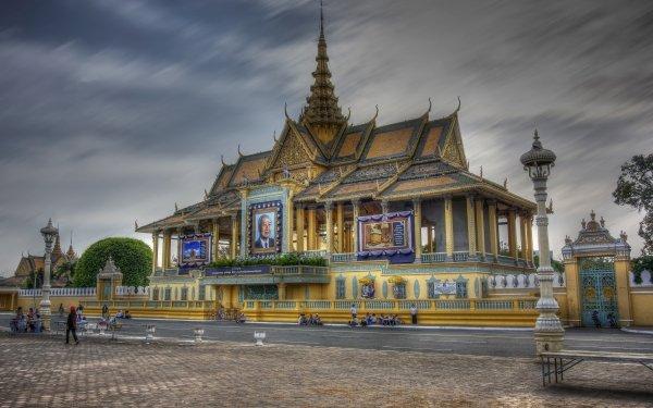 Man Made Royal Palace, Phnom Penh Palaces Cambodia Phnom Penh HD Wallpaper | Background Image