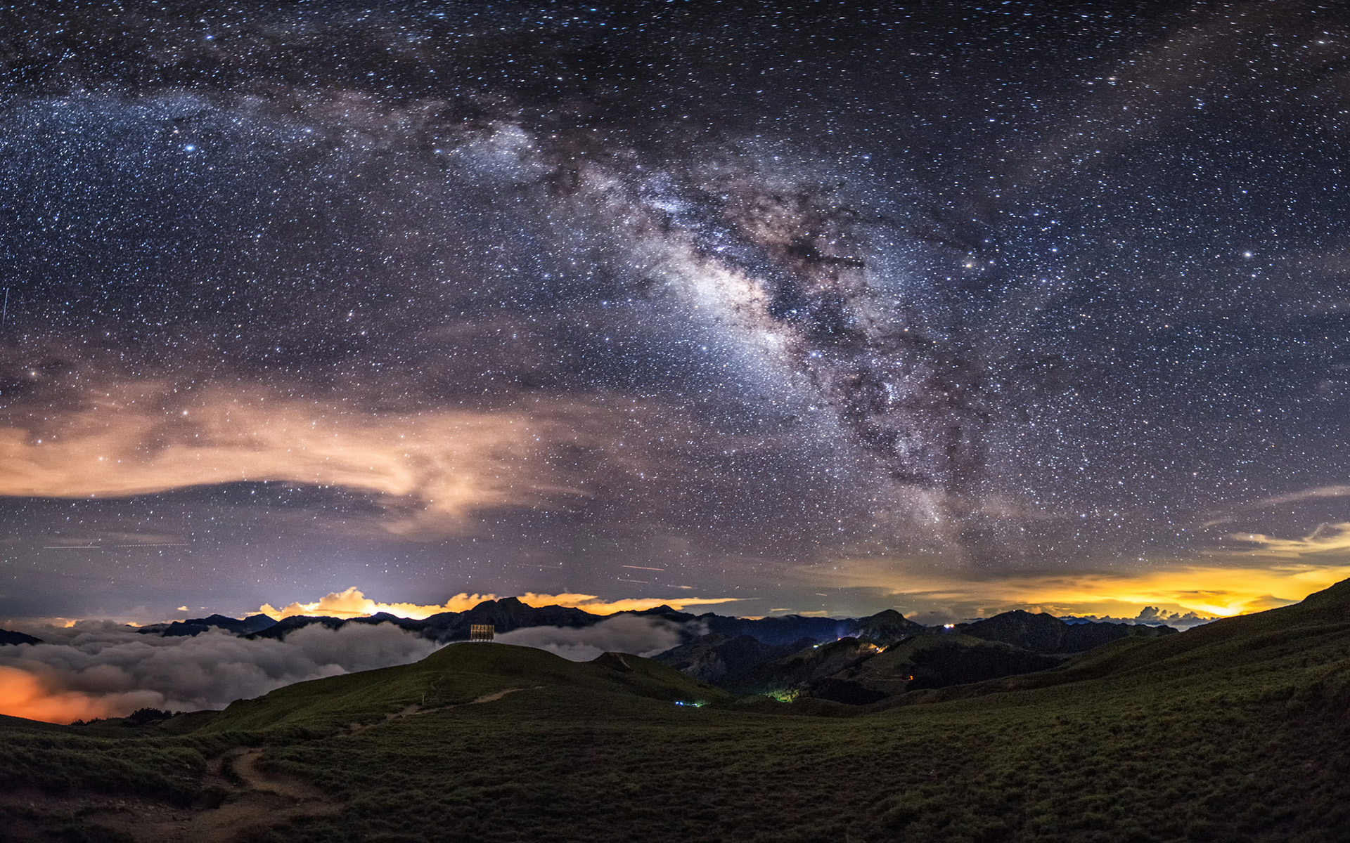 Milky way hd wallpaper background image 1920x1200 id - Cool night nature backgrounds ...