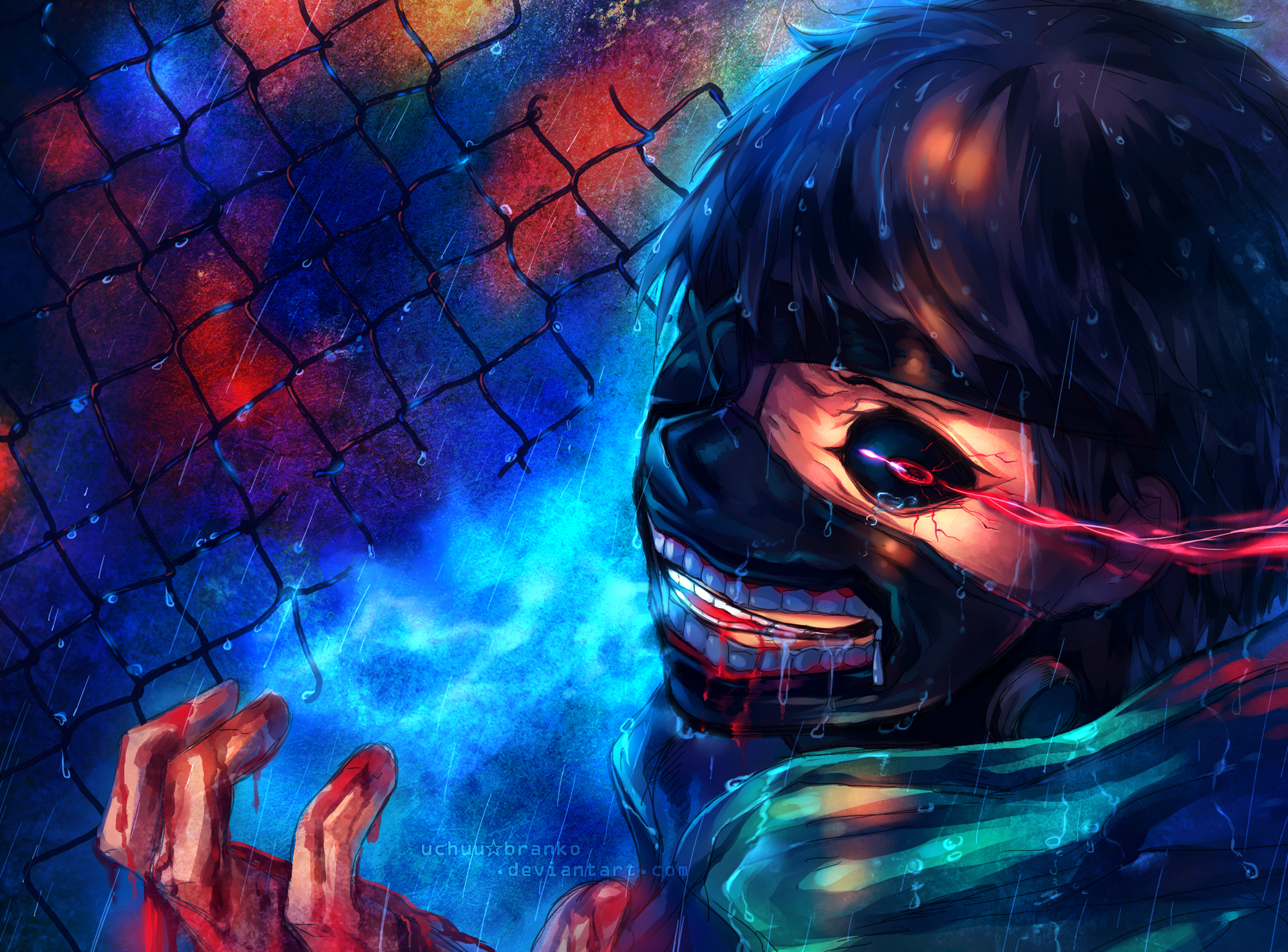 Hungry tears ghoul heart full hd wallpaper and background - Tokyo anime wallpaper ...