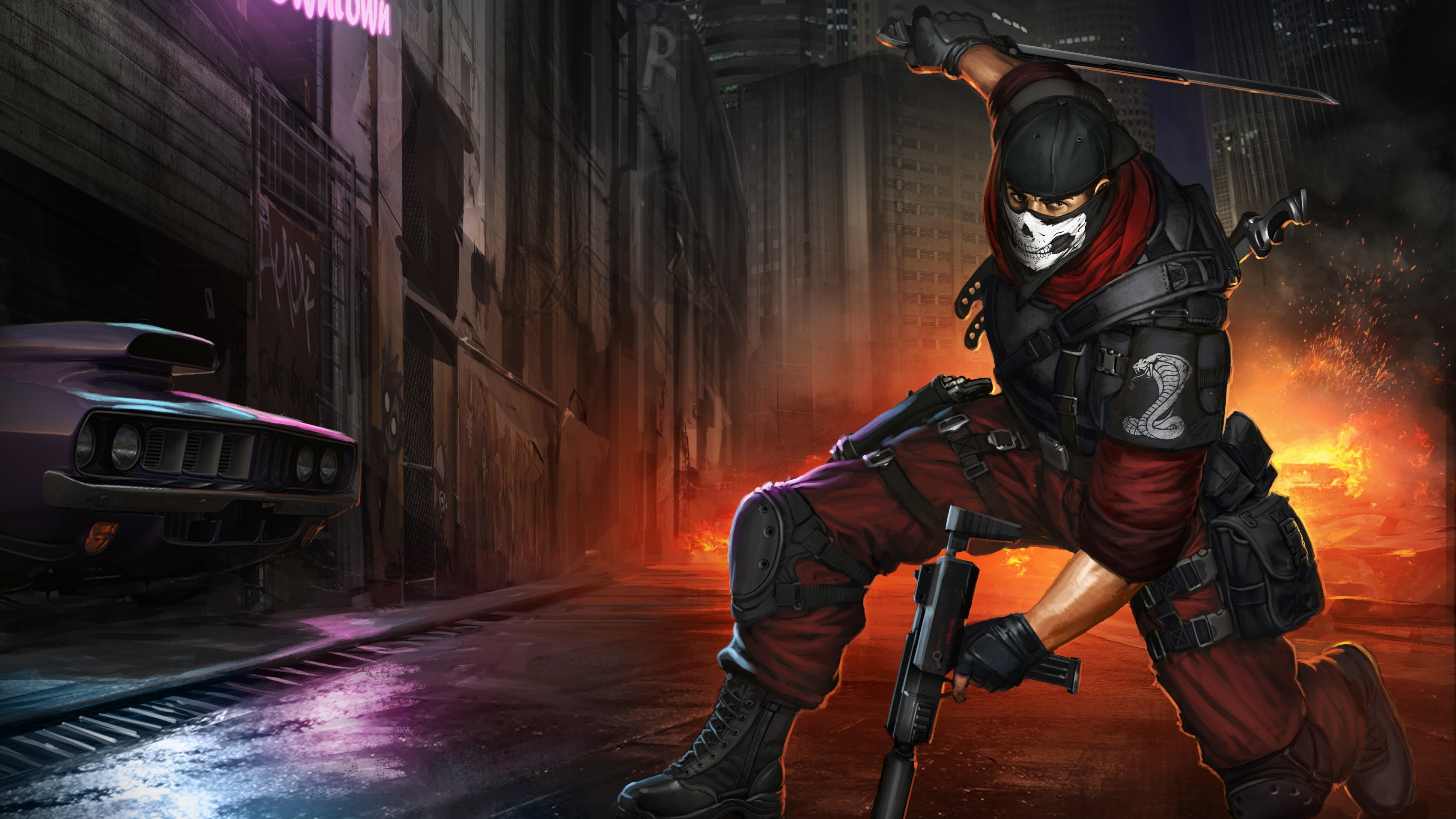Fantasy Art Ninja Mask Wallpapers Hd Desktop And: Cobra: Special Opps Force Full HD Wallpaper And Background