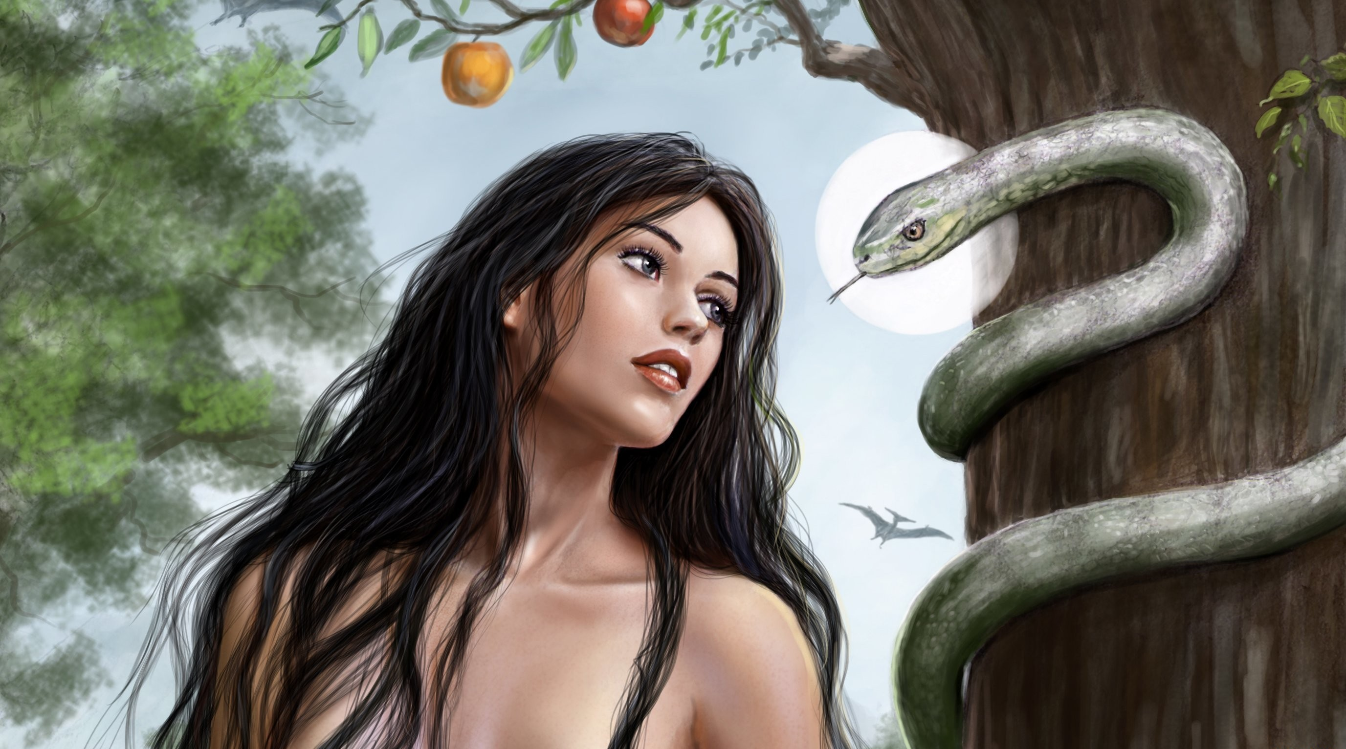 Eve full hd wallpaper and background image 2753x1533 id552371 fantasy women woman apple snake wallpaper voltagebd Choice Image