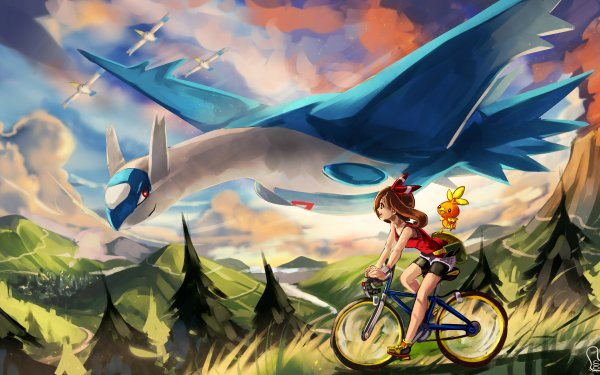 Video Game Pokémon: Omega Ruby and Alpha Sapphire Pokémon Latios Torchic Wingull May HD Wallpaper | Background Image