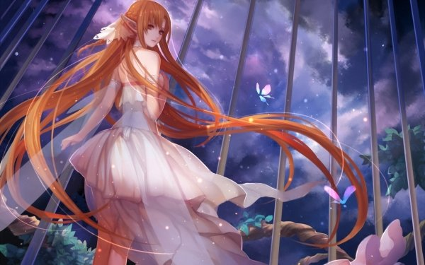 Anime Sword Art Online Hair Asuna Yuuki HD Wallpaper | Background Image