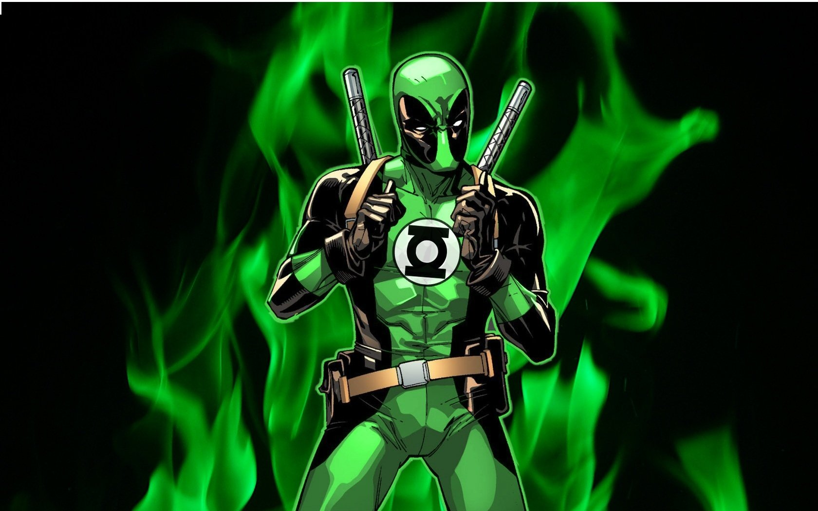 Comics - Deadpool  Green Lantern Wallpaper