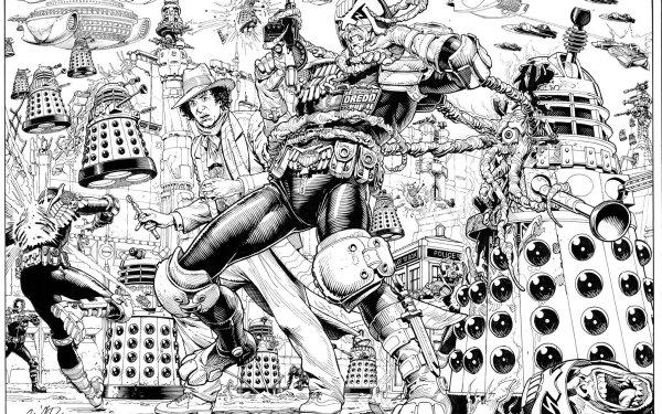 Comics 2000 AD Judge Dredd HD Wallpaper | Background Image