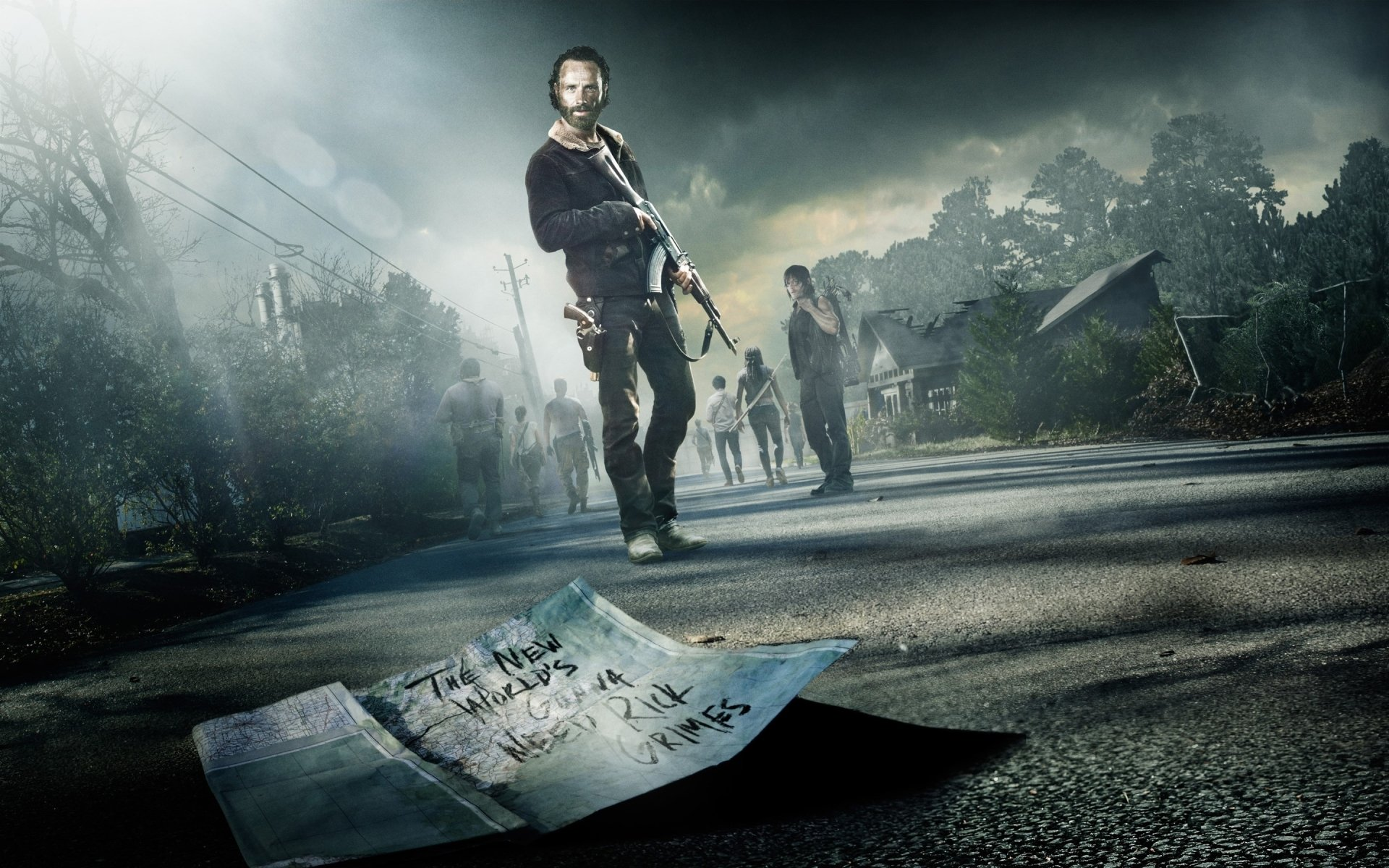 TV Show - The Walking Dead  Andrew Lincoln Rick Grimes Wallpaper