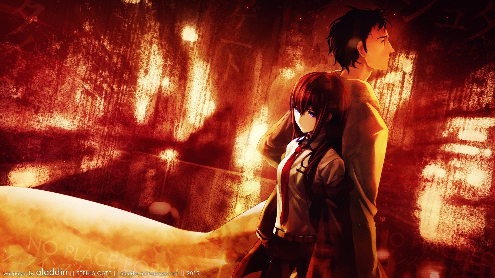 Makise Kurisu & Rintaro Okabe HD Wallpaper | Background ...