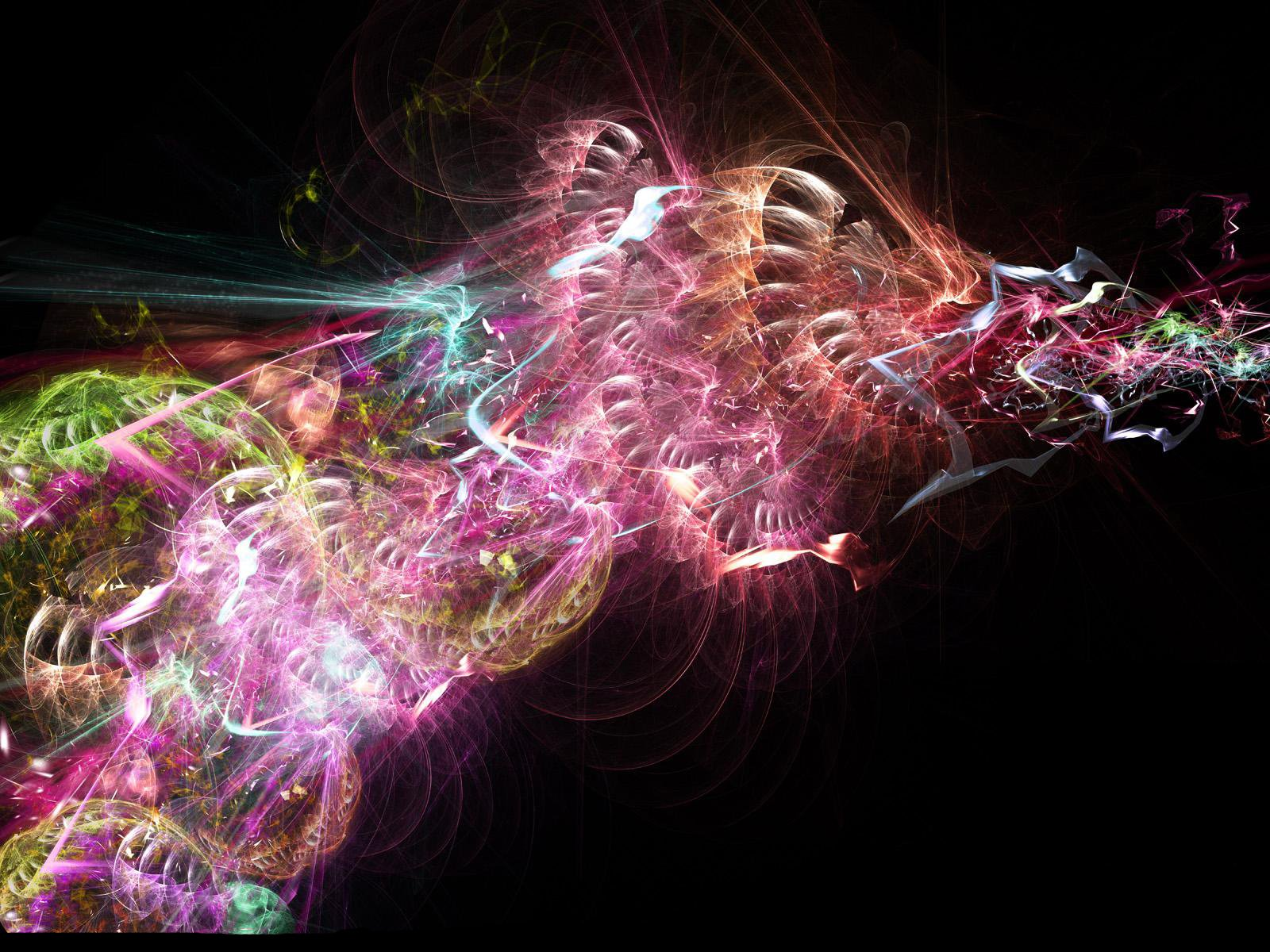 Abstract - Fractal  Colors Abstract Artistic Colorful Digital Wallpaper