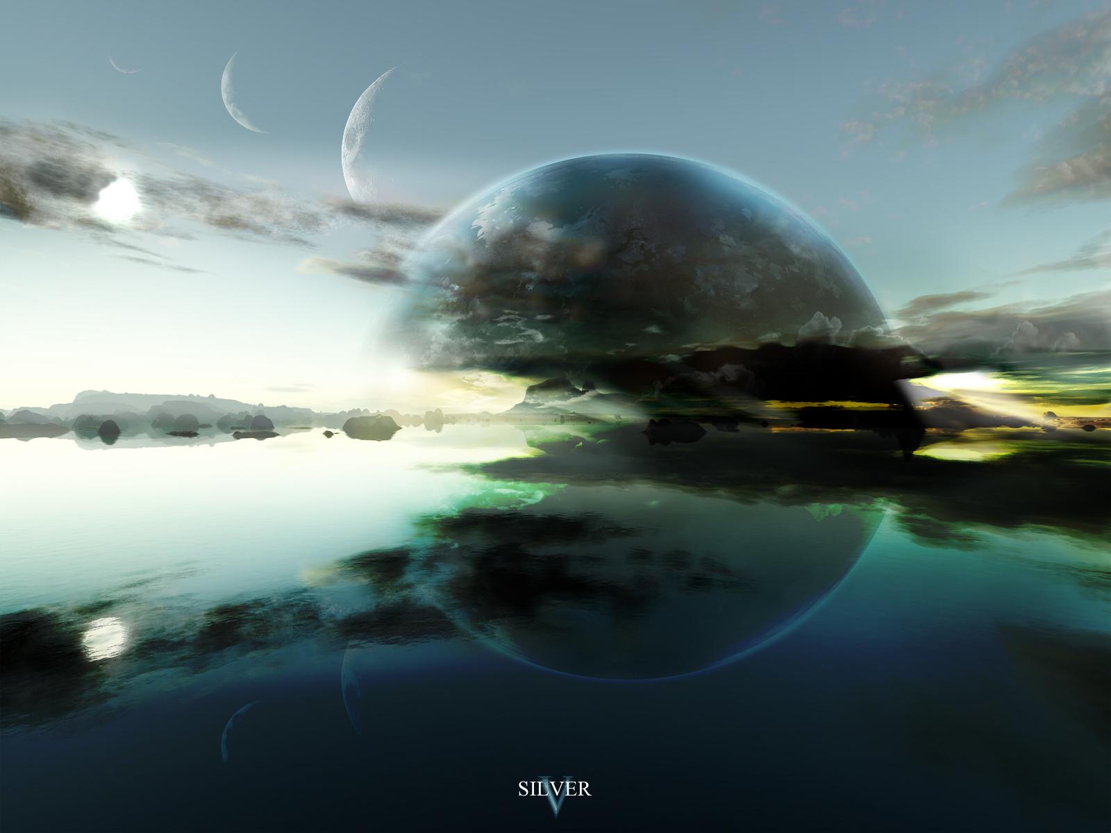 Science Fiction - Planet Rise  Science Fiction Planet Bakgrund