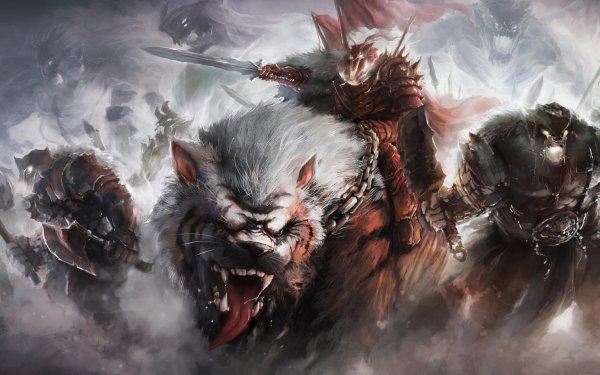 Fantasy Warrior HD Wallpaper   Background Image
