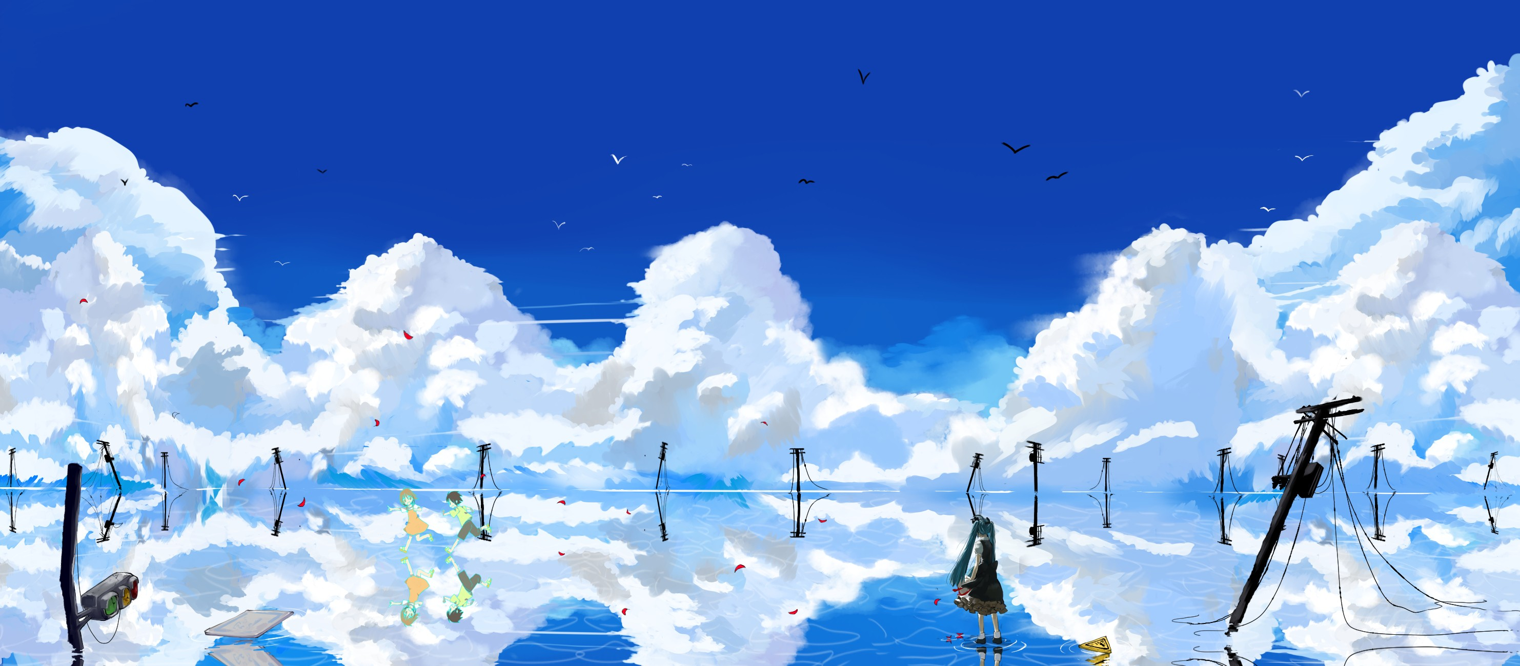 1 sky blue hd wallpapers backgrounds wallpaper abyss - Blue anime wallpaper ...