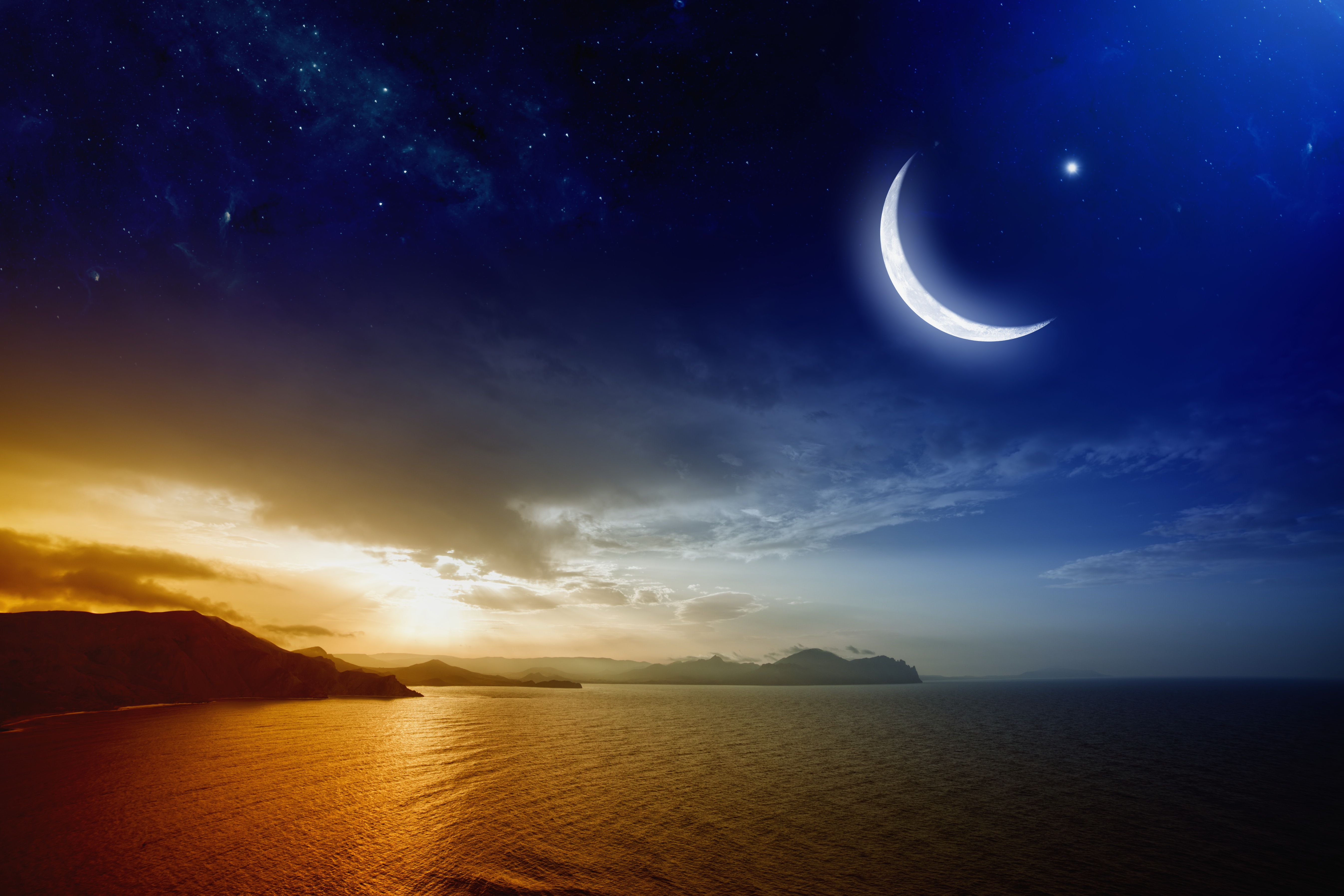 crescent moon iphone 6 wallpaper