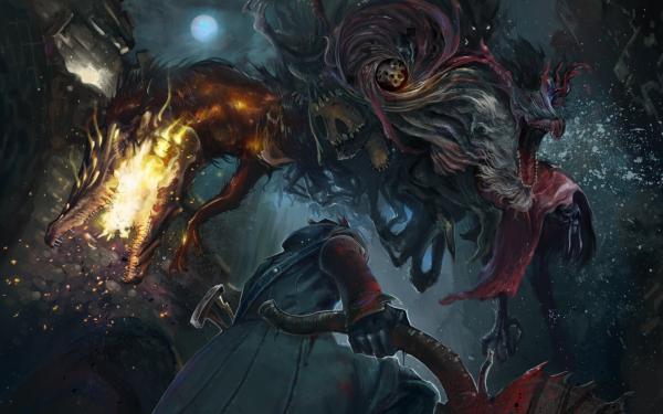 Videojuego Bloodborne Oscuro Arma Beast Fondo de pantalla HD | Fondo de Escritorio