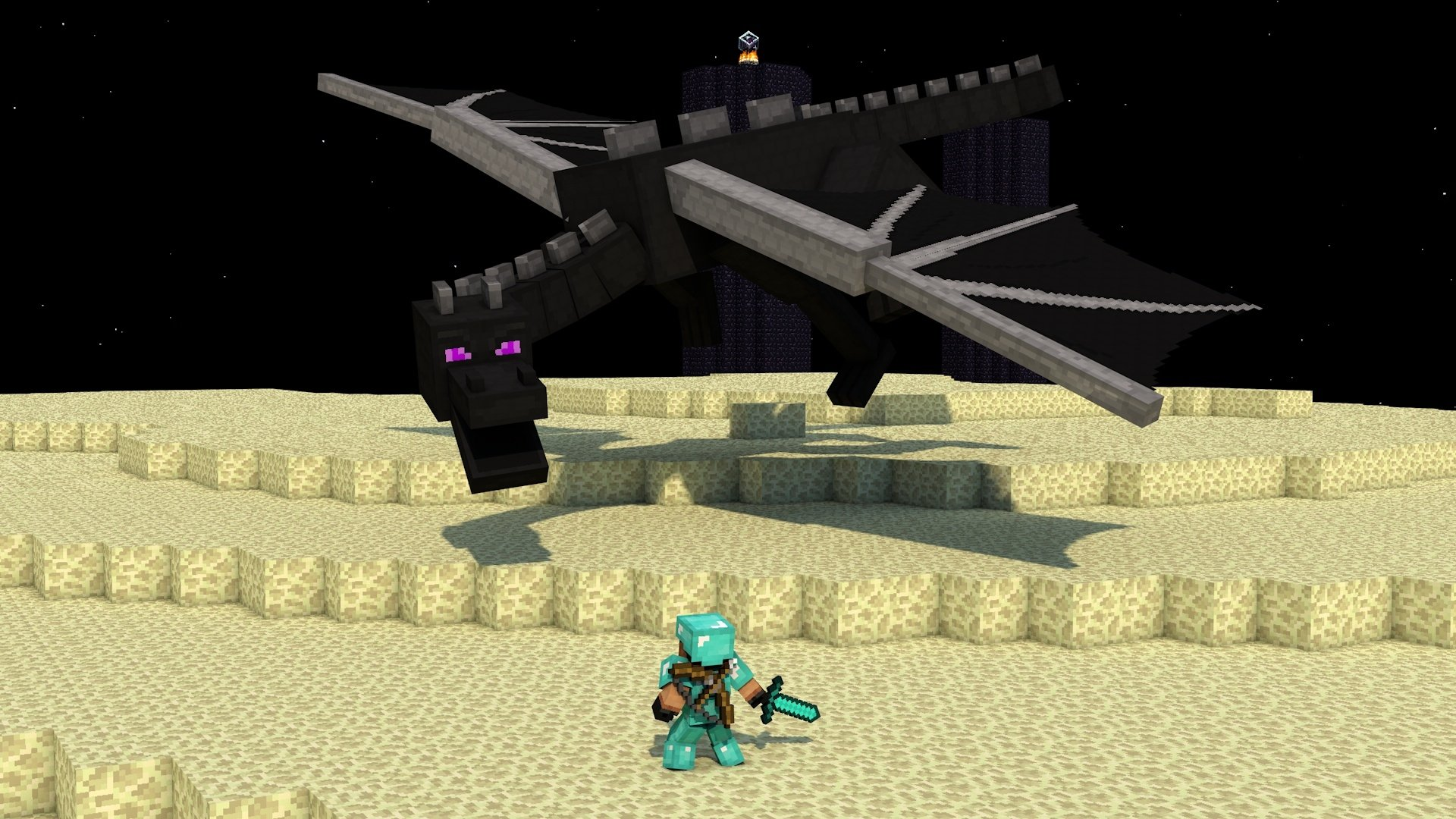 Video Game - Minecraft  Ender Dragon Dragon Mojang Video Game Wallpaper